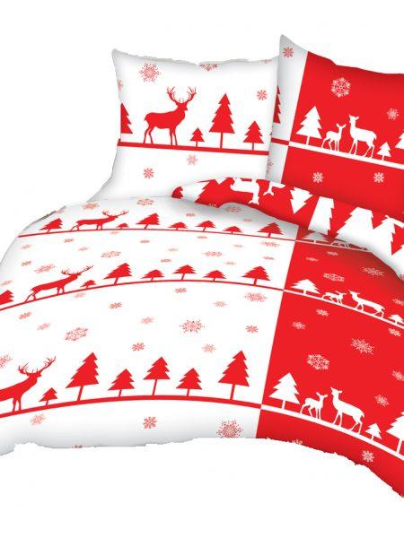 2+1 dielna sada vianočných posteľných obliečok Jarka