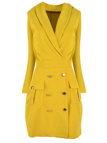 Dámske šaty JARKA 19116 sú dostupné v troch farebných prevedeniach. Veľkosť šiat : univerzál Farebné prevedenia : žltá kód : JARKA 1911693 bordová kód : JARKA 1911694 červená kód : JARKA 1911695