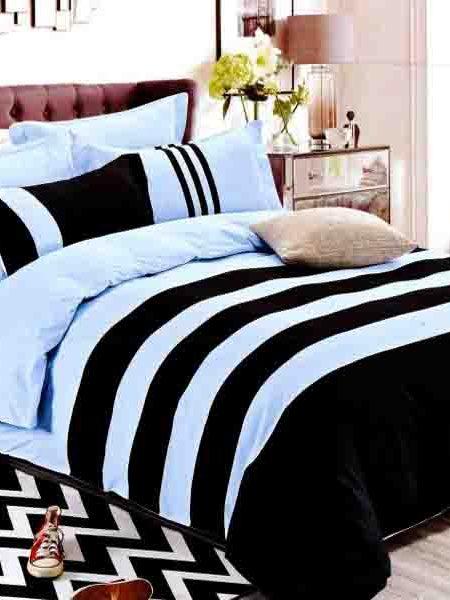 Súprava obliečok 3D modrá obsahuje: 1 x posteľná obliečka : 160 x 200 cm 2 x obliečka na vankúš : 70 x 80 cm Označenie produktu: JAMOD 4985 - Posteľné obliečky sú vyrobené zo 100% bavlny. - Vhodné pre alergikov - Veľmi vysoká kvalita bavlny. - 100% prírodné použité materiály za tak výhodnú cenu. - Obliečky a prestieradlo majú rovnaký vzor