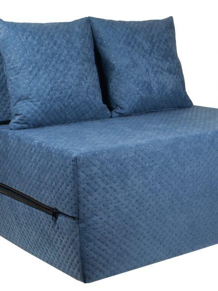 Rozkladací gauč a posteľ v jednom tmavo modrá farba. Sedadlo sa rýchlo rozloží až do dĺžky cca 2 m, výhodná alternatíva k posteli. Materiál: Penové matrace spolu s dvoma vankúšmi zadarmo! Rozmery: 200 cm x 70 cm x 15 cm
