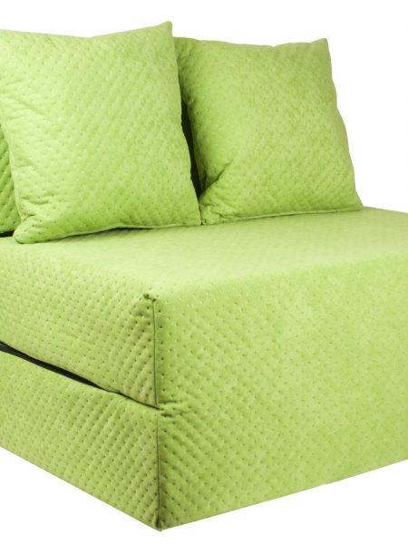 FOBO Slovakia FOBO Slovakia Rozkladací gauč a posteľ v jednom zelená farba. Sedadlo sa rýchlo rozloží až do dĺžky cca 2 m, výhodná alternatíva k posteli. Materiál: Penové matrace spolu s dvoma vankúšmi zadarmo! Rozmery: 200 cm x 70 cm x 15 cm