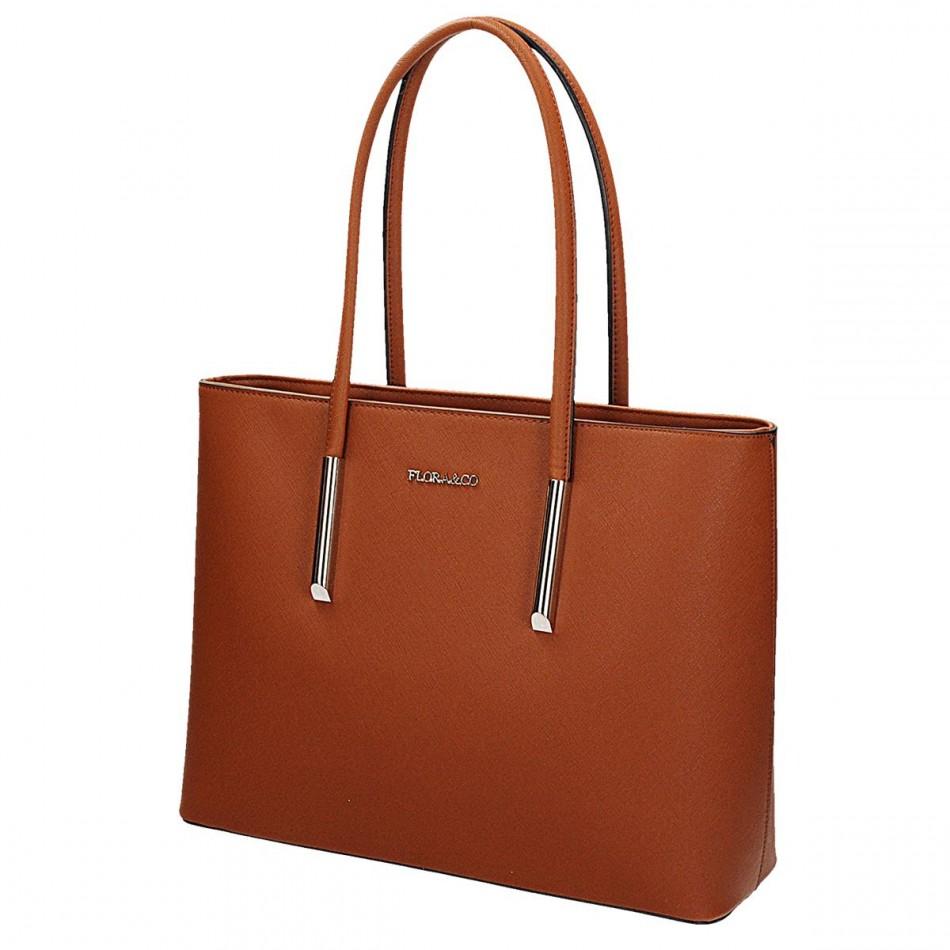 48576bb63 Dámska kabelka Flora & Co CAMEL 5717, v hnedej farbe vyrobená z kvalitnej  eko kože