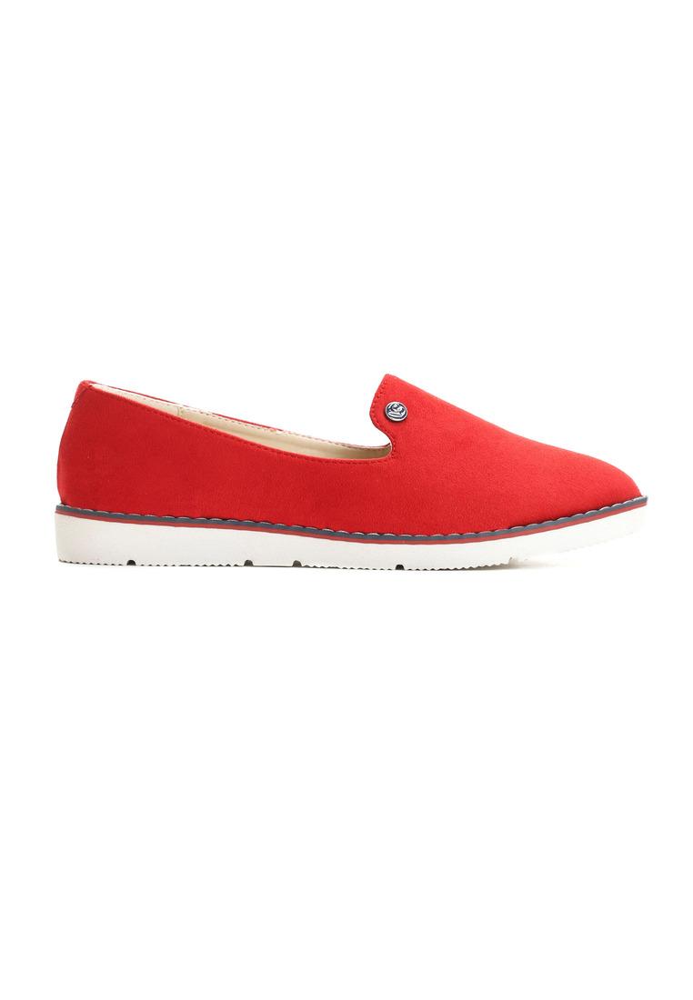 a6770a76102b9 Dámske poltopánky v červenej farbe na platforme Veľkosť : 35, 36, 37, 38