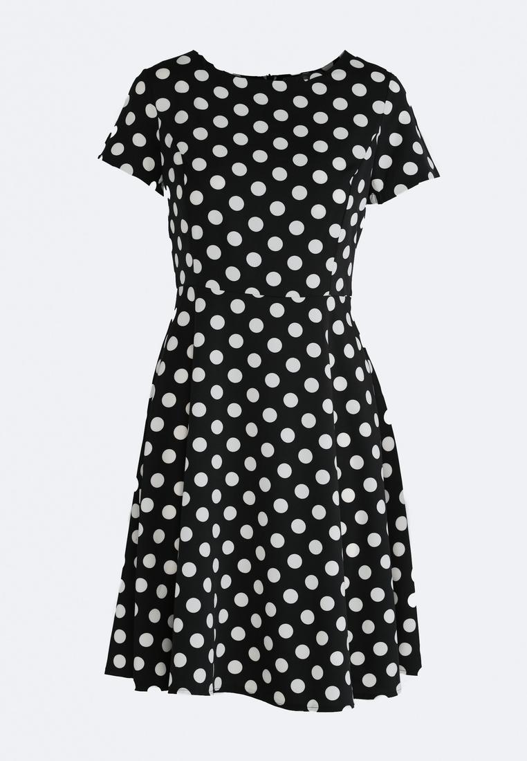 Čierne bodkované šaty Avery  ff9f0c6d715