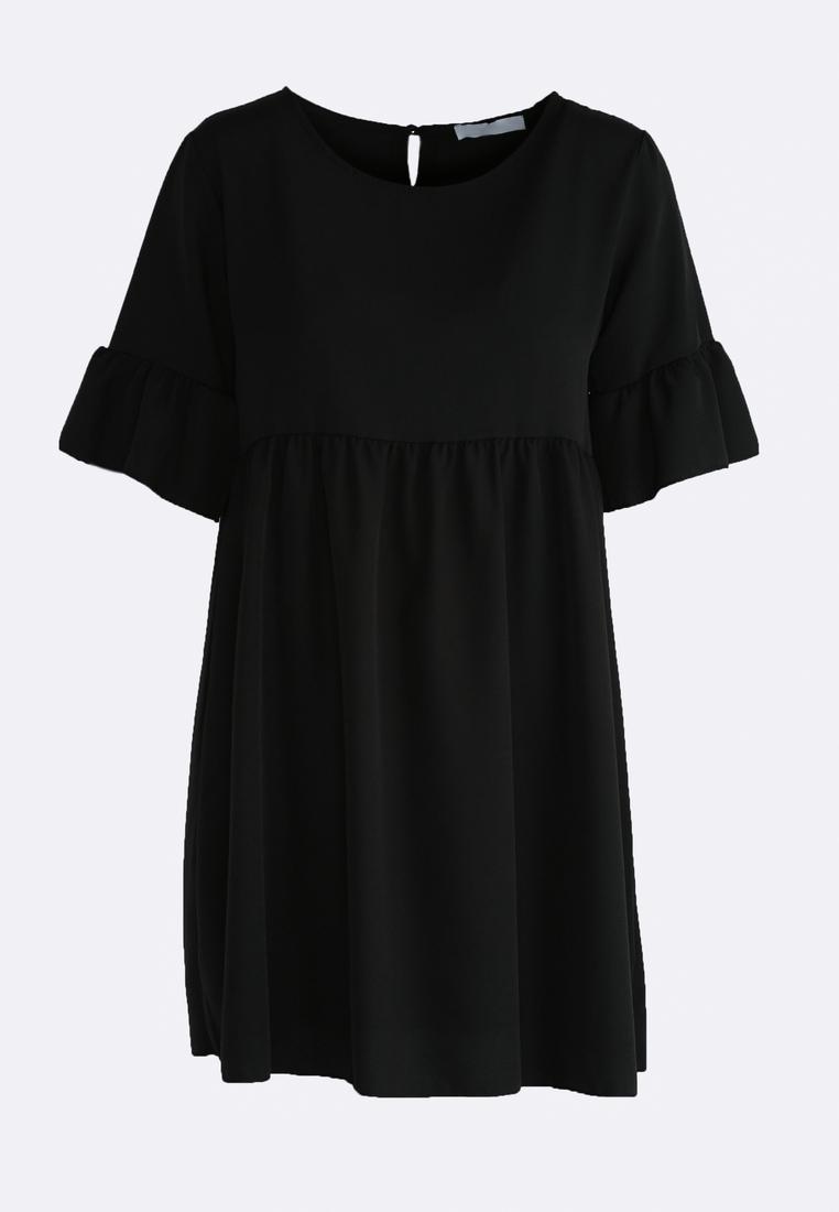 Dámske šaty čierne Zoe, dostupné vo dvoch veľkostiach S/M a L/XL Vyrobené z príjemného materiálu. Zapínanie na zadnej časti pomocou zipsu. Ideálne šaty na každú spoločenskú príležitosť Zloženie: 95% polyester, 5% elastan. Kód : Zoe 1262130