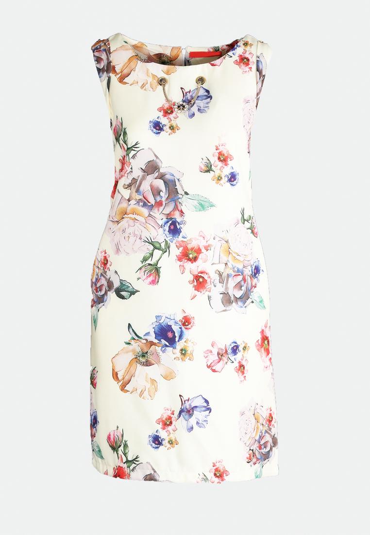 Dámske kvietočkované šaty žlté Lillian, dostupné v piatich veľkostiach 36,38,40,42,44 Vyrobené z príjemného materiálu. Zapínanie na zadnej časti pomocou zipsu. Ideálne šaty na každú spoločenskú príležitosť Zloženie: 95% polyester, 5% elastan. Kód : Lillian 1242246
