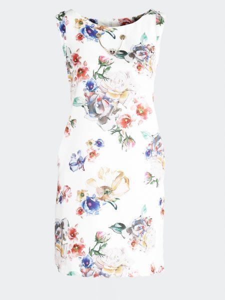 ed43682a04071 Dámske kvietočkované šaty biele Lillian | Jarka.sk | móda • štýl ...