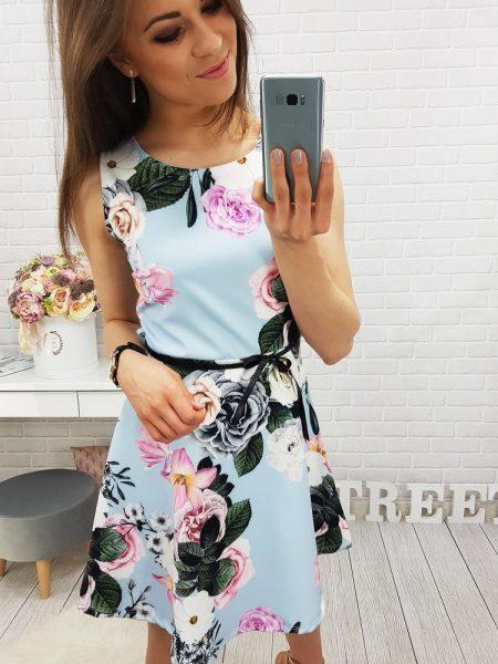 8609767ddcb7c Dámske šaty Anne modrá farba, dostupné vo veľkostiach S,M,L a XL