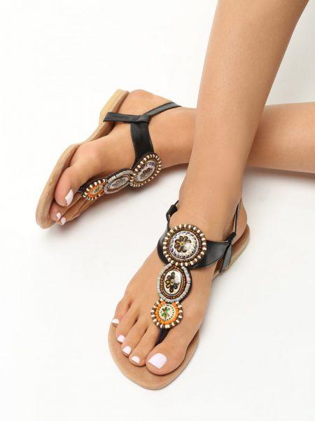 a2fddbd2f811 Dámske sandále čierne Natália