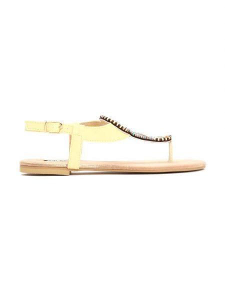 eb115e4e718b Dámske sandále žlté Natália Veľkosť   36