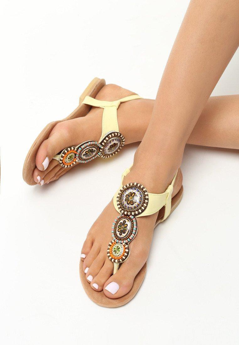 6eab076611d0 Dámske sandále žlté Natália