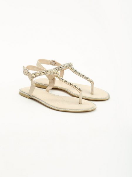 dd52abc24b76 Dámske sandále béžové Layla Veľkosť   36