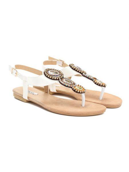 70ea620144d3 Dámske sandále biele Natália Veľkosť   36
