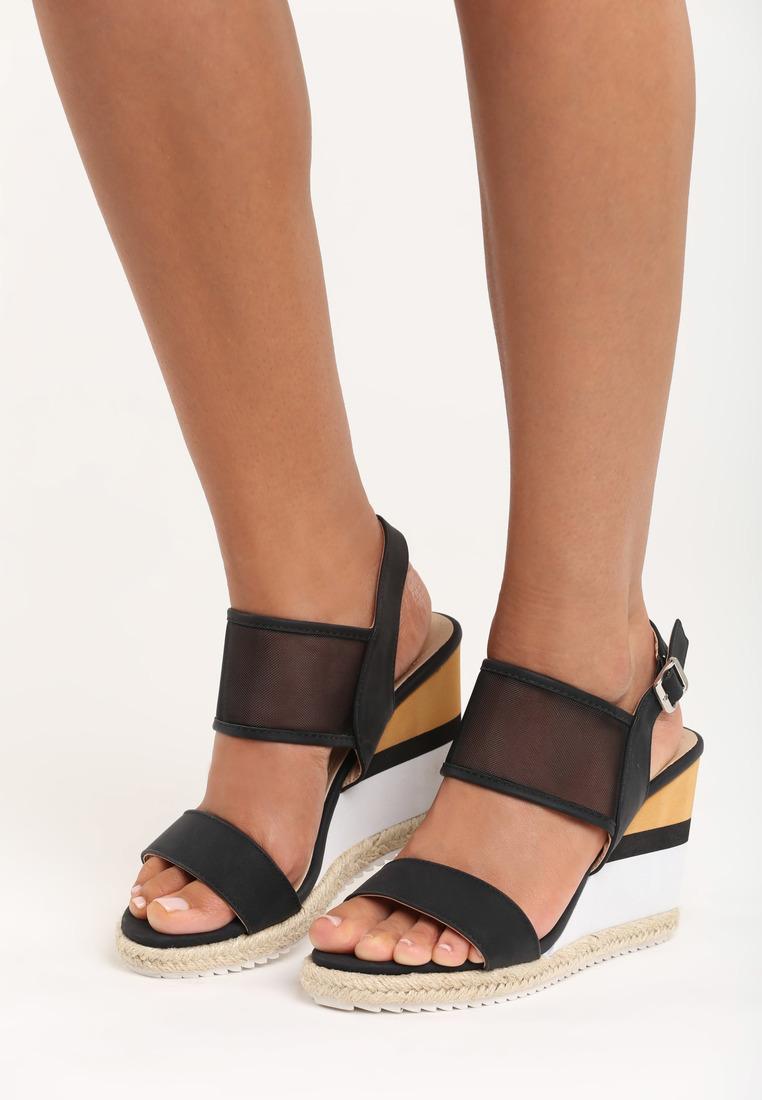 adc50c9ac144 Dámske sandále na platforme čierne Leah Veľkosť   36