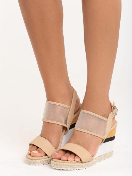 5f9087fc3f8ca Dámske sandále na platforme béžové Leah Veľkosť : 36, 37, 38, 39,