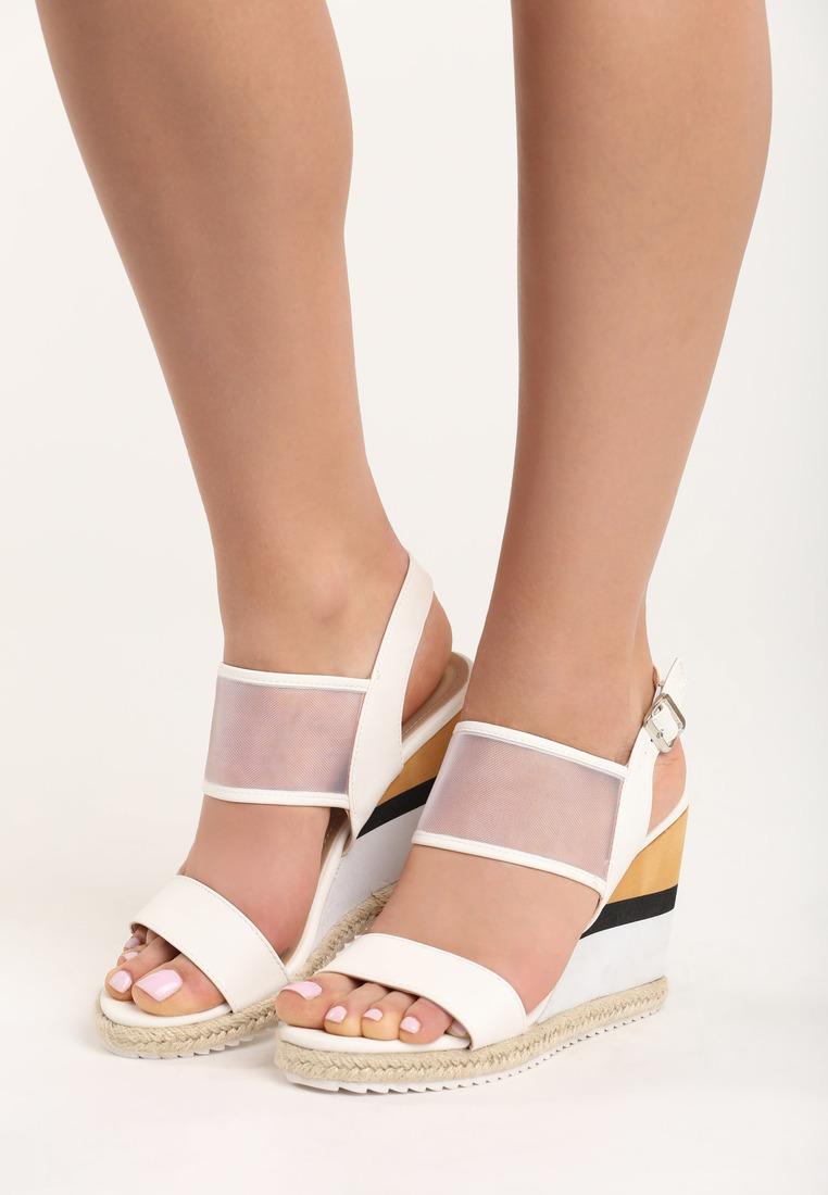 4ed035489d16 Dámske sandále na platforme biele Leah Veľkosť   36