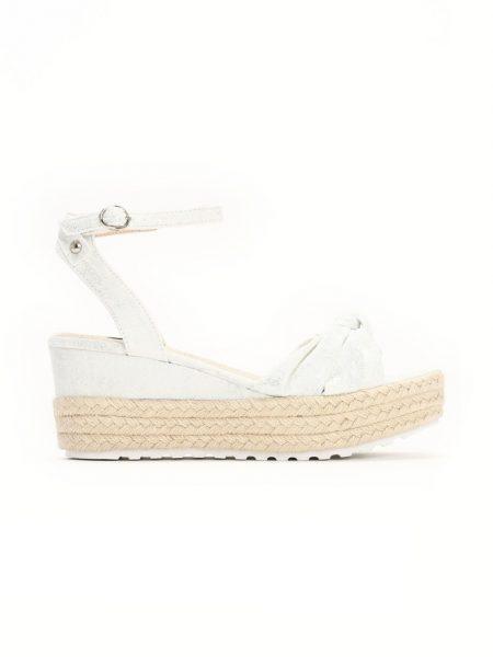 9921ce050d Dámske sandále na platforme biela Nora Veľkosť   36