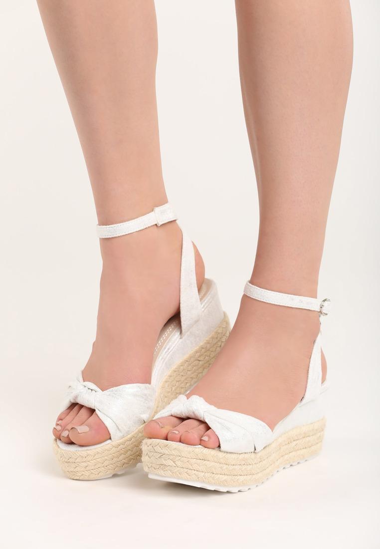 39e44789a392 Dámske sandále na platforme biela Nora Veľkosť   36
