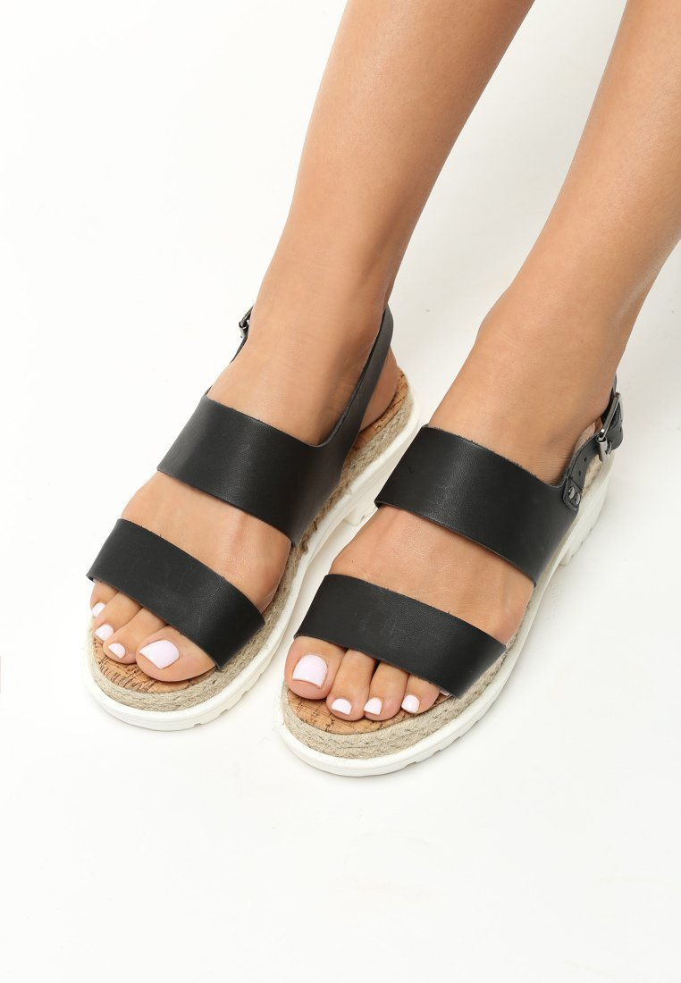 a051cd0d6ca3 Dámske sandále na platforme čierne Zoe Veľkosť   36