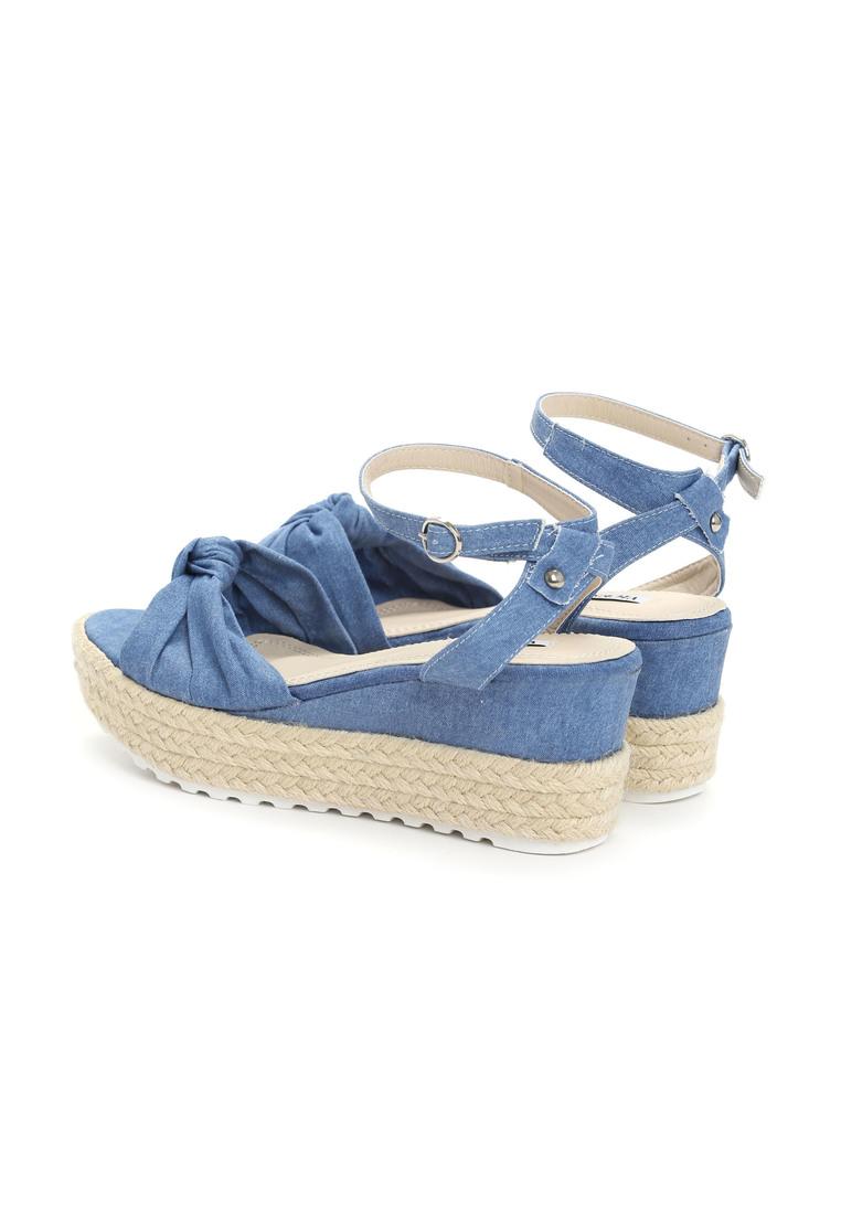 1012c4831a83 Damske sandale na platforme modrá kod 128975 Nora 4