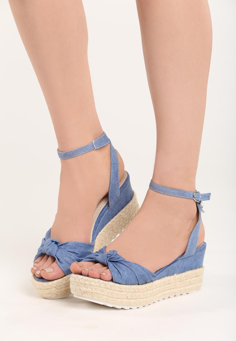 344dd8b89743 Dámske sandále na platforme modrá Nora Veľkosť   36