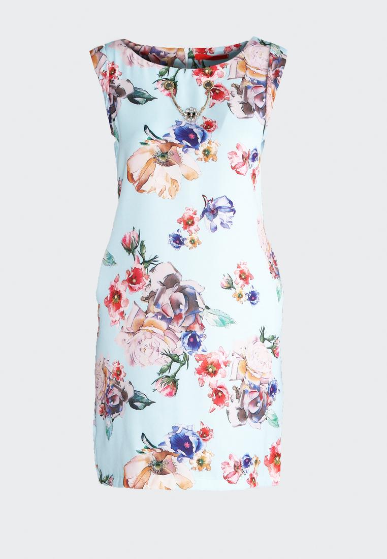 80321ee7ede9a Dámske kvietočkované šaty modré Lillian, dostupné v piatich veľkostiach  36,38,40,