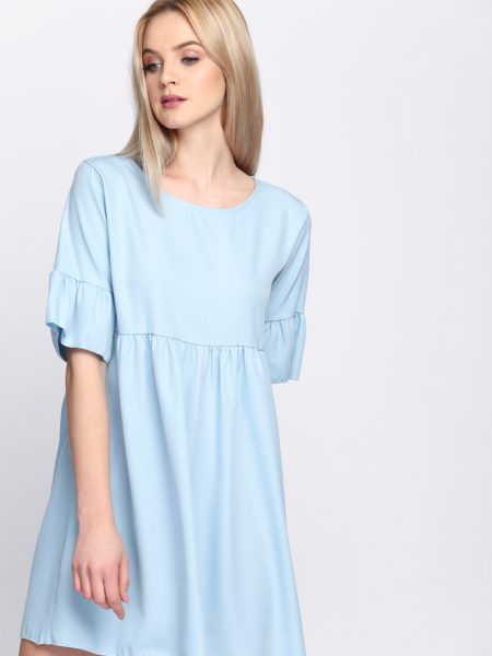 Dámske šaty modré Zoe, dostupné vo dvoch veľkostiach S/M a L/XL Vyrobené z príjemného materiálu. Zapínanie na zadnej časti pomocou zipsu. Ideálne šaty na každú spoločenskú príležitosť Zloženie: 95% polyester, 5% elastan. Kód : Zoe 1262129