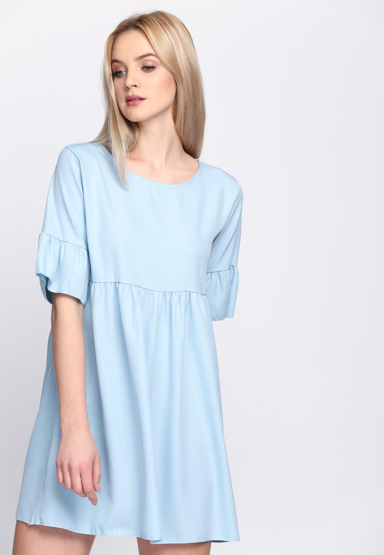 4db700eb17e3 Dámske šaty modré Zoe