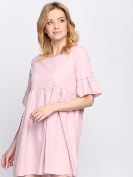 Dámske šaty ružové Zoe, dostupné vo dvoch veľkostiach S/M a L/XL Vyrobené z príjemného materiálu. Zapínanie na zadnej časti pomocou zipsu. Ideálne šaty na každú spoločenskú príležitosť Zloženie: 95% polyester, 5% elastan. Kód : Zoe 1262132