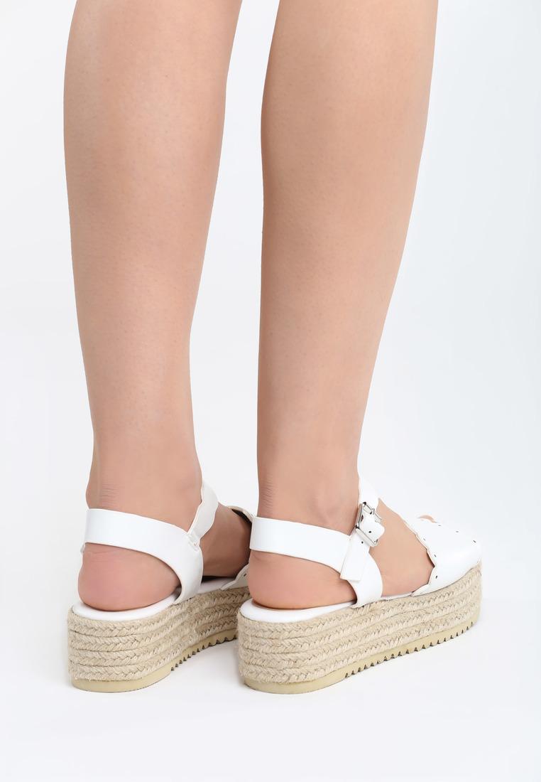 b74916629191 Sandále na platforme biele Lily Veľkosť   35