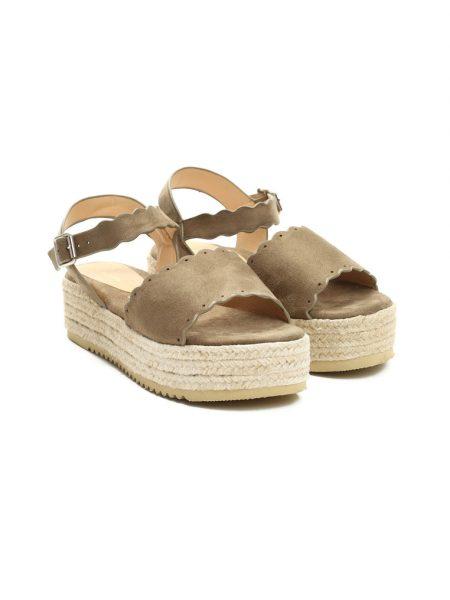 c738124d6bf2 Sandále na platforme hnedé Lily Veľkosť   35