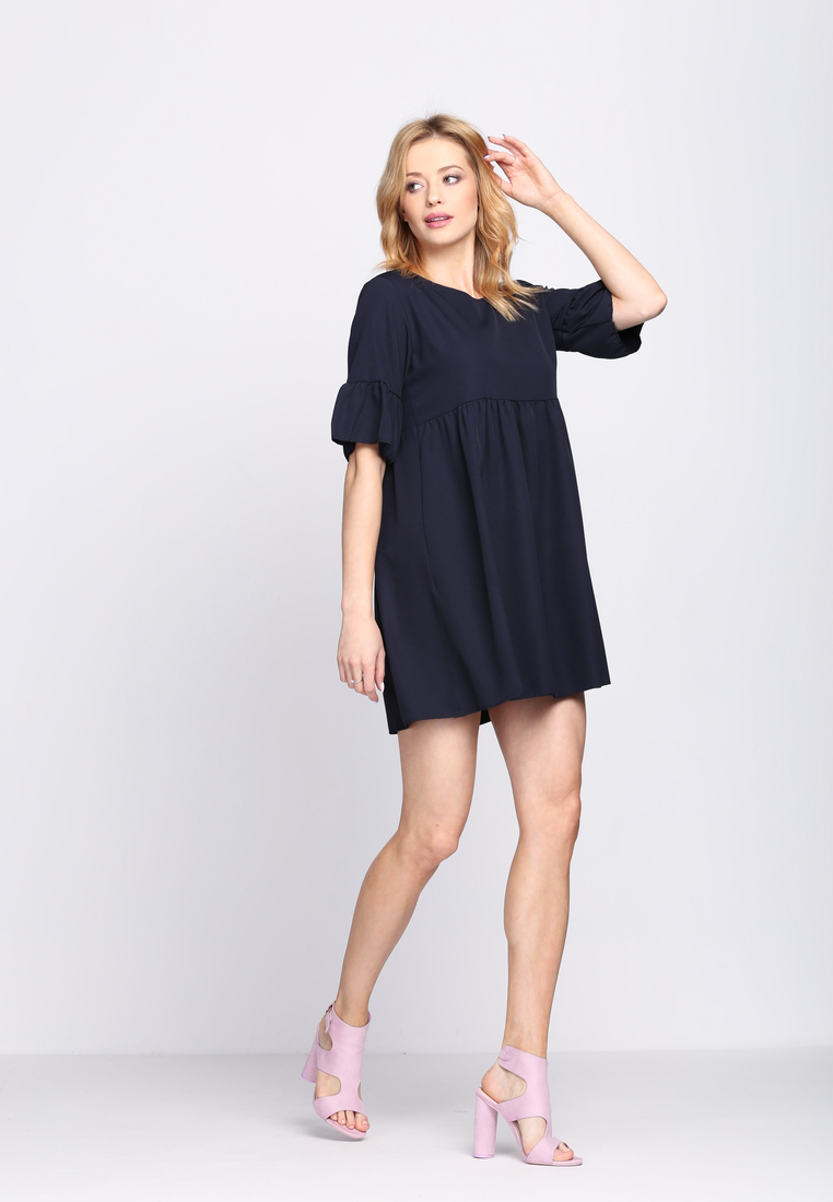 Dámske šaty tmavo modré Zoe, dostupné vo dvoch veľkostiach S/M a L/XL Vyrobené z príjemného materiálu. Zapínanie na zadnej časti pomocou zipsu. Ideálne šaty na každú spoločenskú príležitosť Zloženie: 95% polyester, 5% elastan. Kód : Zoe 1262131