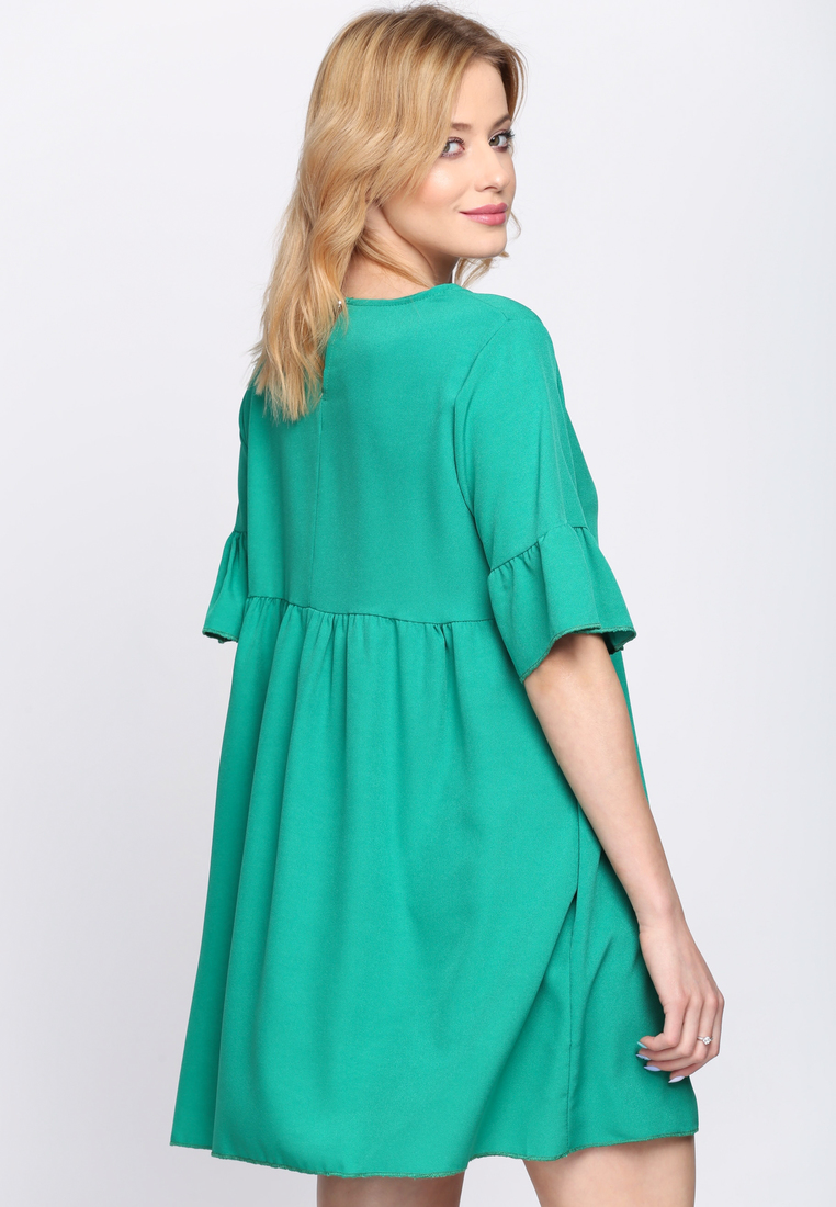 06f0f7973c728 Dámske šaty zelené Zoe, dostupné vo dvoch veľkostiach S/M a L/XL