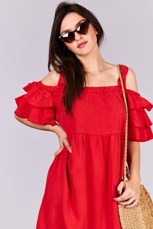 10e5c4b77cb Dámske šaty Noe Veľkosť UNI-verzálna Vyrobené z príjemného materiálu.  Pohodlné šaty