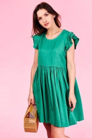 Dámske šaty Talia Veľkosť UNI-verzálna Vyrobené z príjemného materiálu. Pohodlné šaty, krátky rukáv Farebné prevedenia : zelená Kód : Jarka 0515661