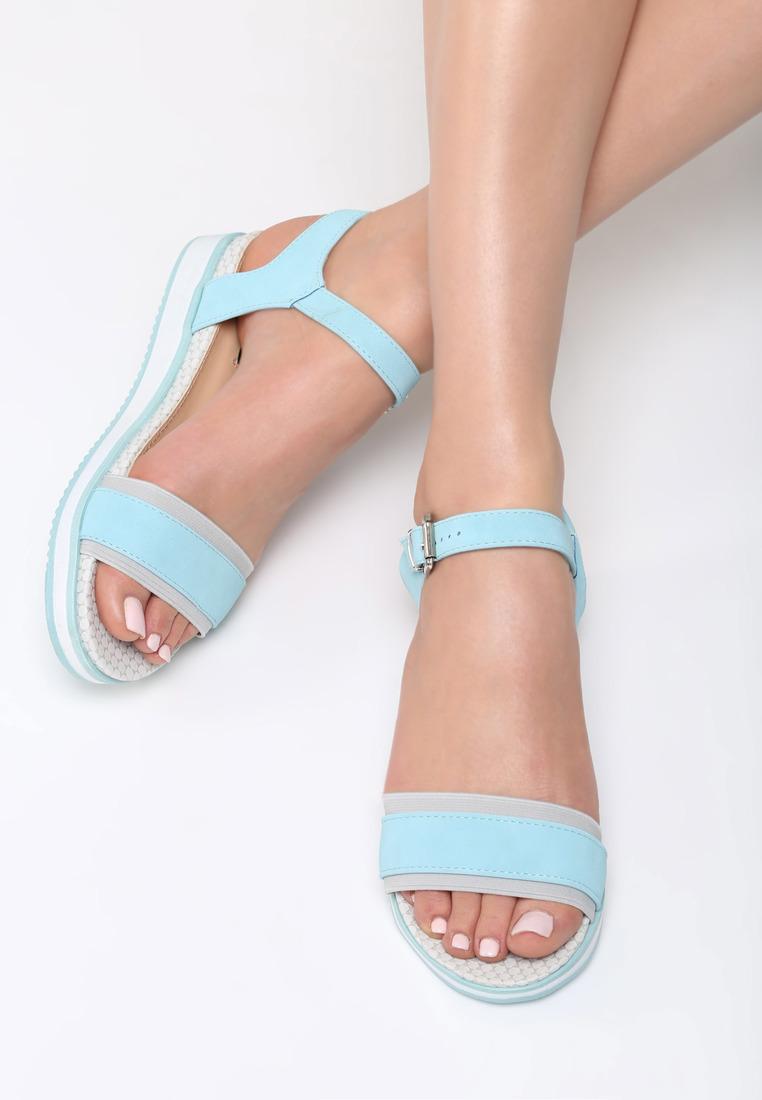 040a607c37cf8 Dámske sandále na platforme modré Audrey | Jarka.sk | móda • štýl ...
