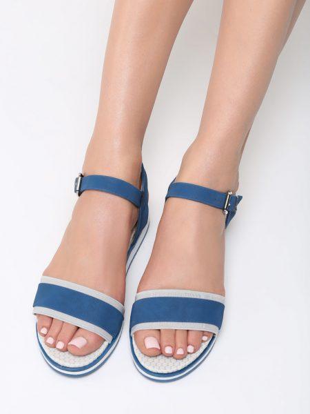 01d772a354d3 Dámske sandále na platforme námornícka modrá Audrey Veľkosť   36