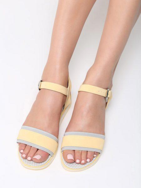 5598dbd756 Dámske sandále na platforme žlté Audrey Veľkosť   36