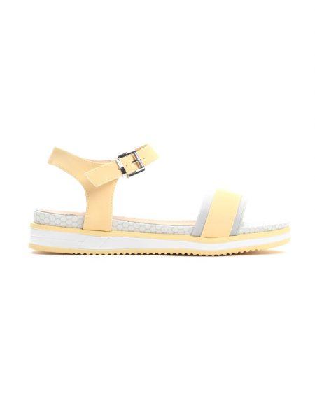 01d7812f2584 Dámske sandále na platforme žlté Audrey Veľkosť   36