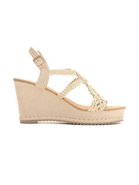 89201421369f Dámske sandále na platforme béžové Naomi Veľkosť   36