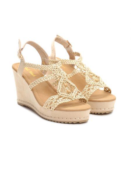 6b889107d2 Dámske sandále na platforme béžové Naomi Veľkosť   36