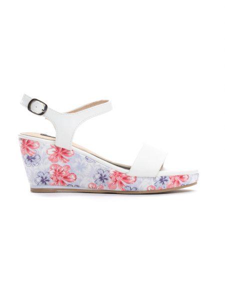 5cb305852c Dámske sandále na platforme biele Gabriella Veľkosť   36