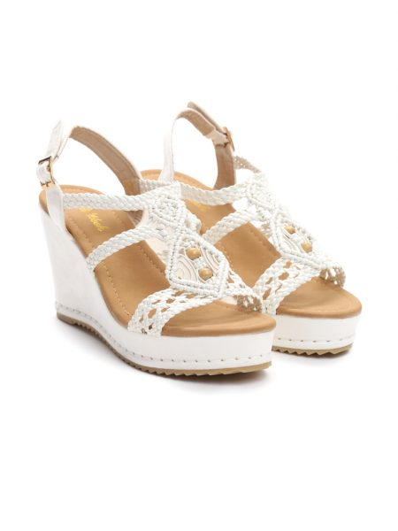 f0bcc0f7be Dámske sandále na platforme biele Naomi Veľkosť   36