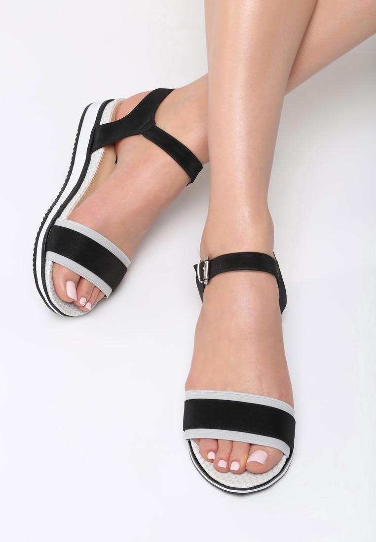 be348e6b4a Dámske sandále na platforme čierne Audrey Veľkosť   36