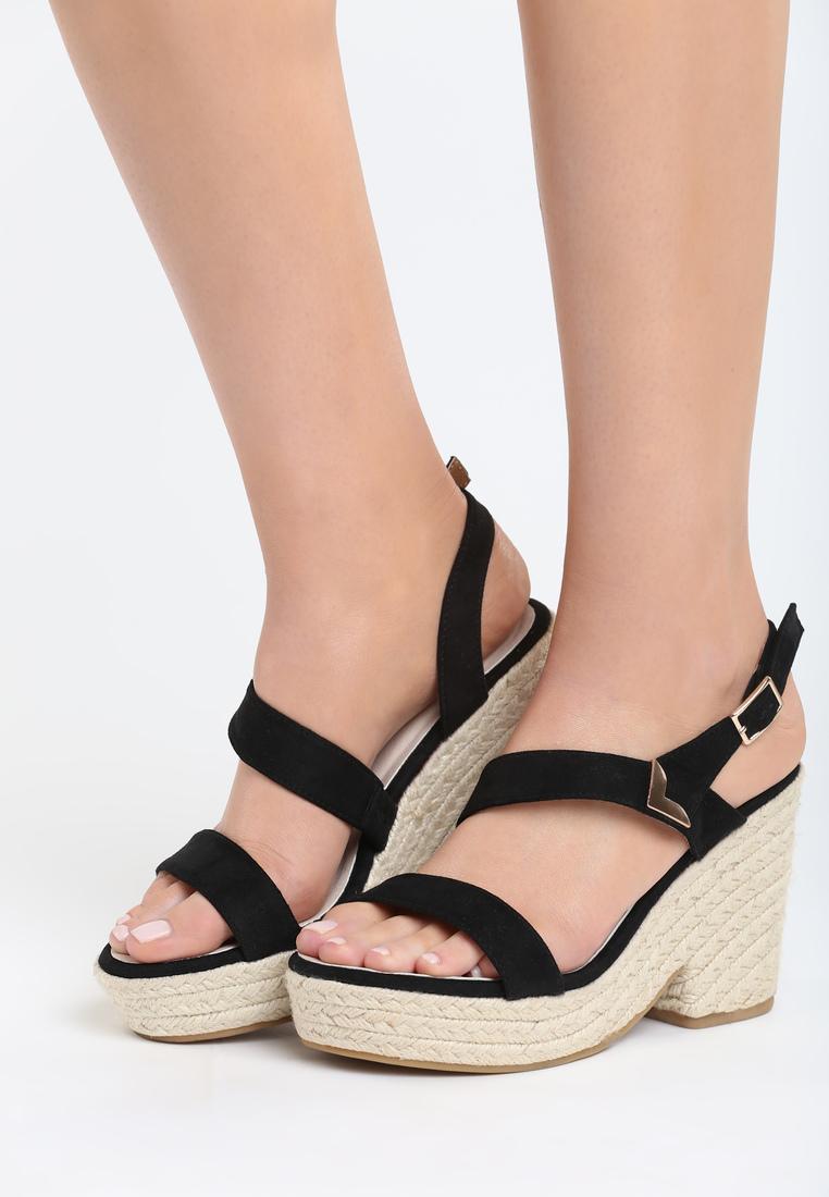 c780bbe54293 Dámske sandále na platforme čierne Alexa Veľkosť   36