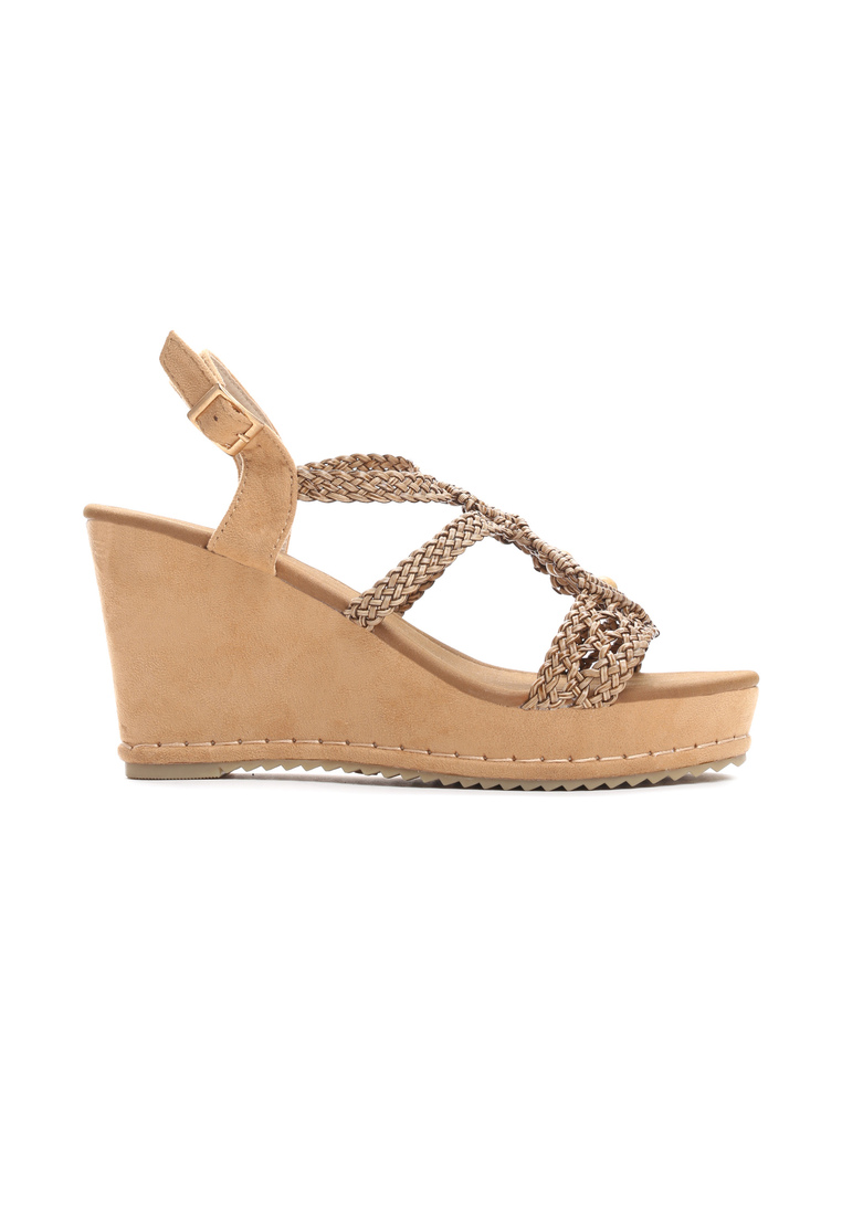 9e4361a4d415 Dámske sandále na platforme hnedé Naomi