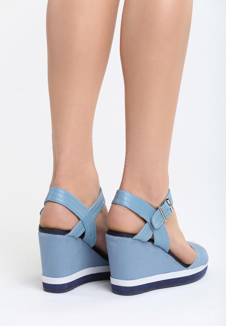 4361bd94e9 Dámske sandále na platforme modré Alice Veľkosť   36
