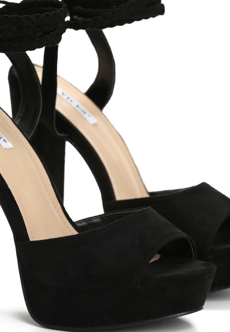 4885f83794fa Dámske sandále na platforme čierne Ellie Veľkosť   36