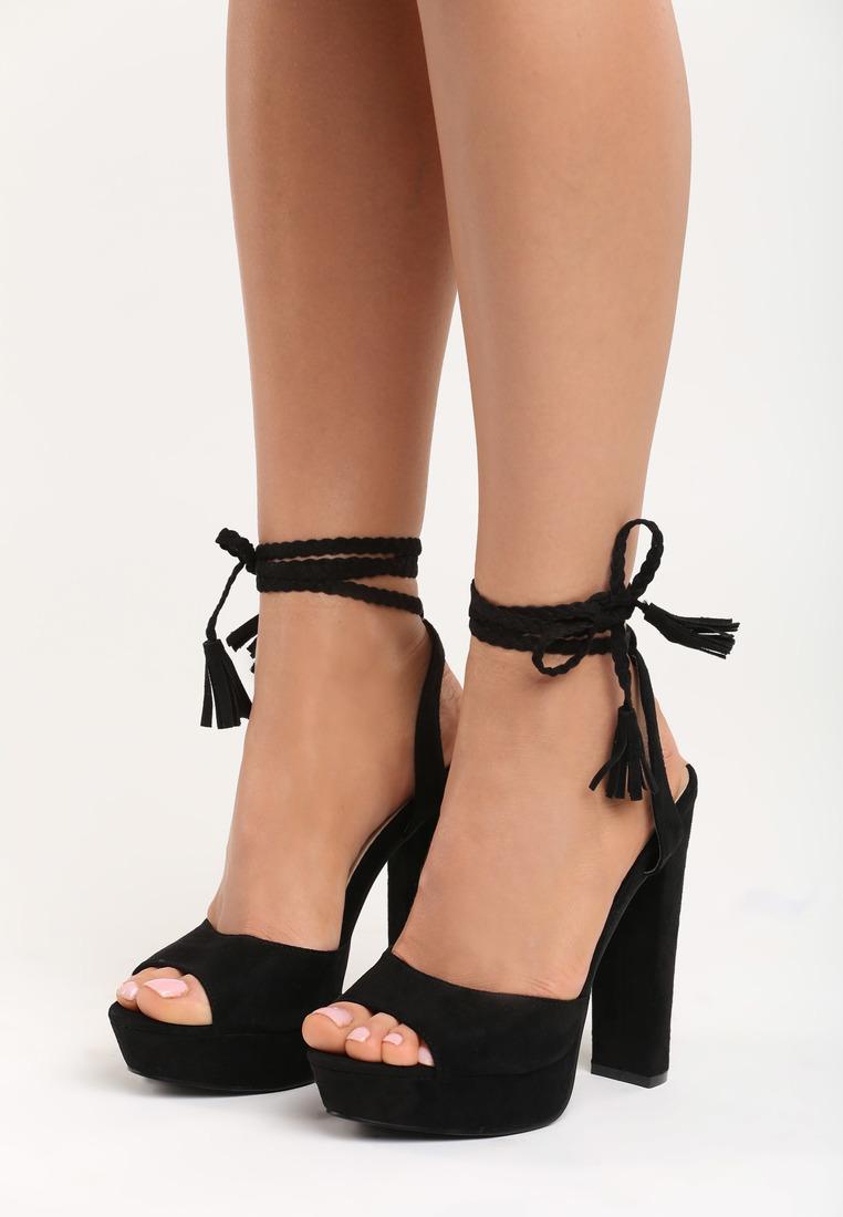 799e29933ac8 Dámske sandále na platforme čierne Ellie Veľkosť   36