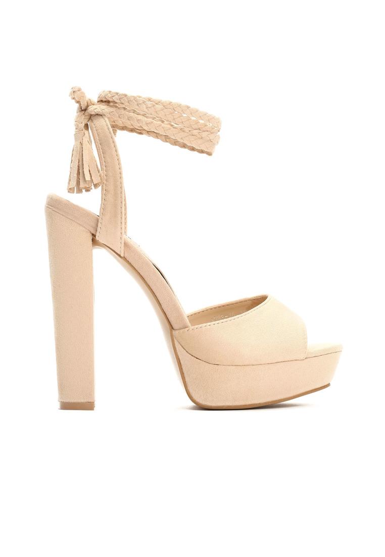 f5e1e033d39f Dámske sandále na platforme béžové Ellie Veľkosť   35